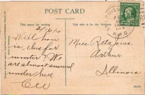United States U.S. R.P.O.'s St. Louis & Malden 1910 450-X-1  PC.
