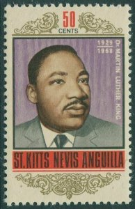 St Kitts-Nevis 1968 SG190 50c Martin Luther King MNH