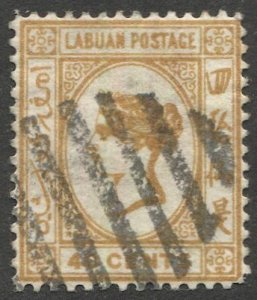 LABUAN 1894 Sc 48  40c QV Used  VF, Litho.