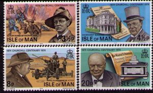 Isle Of Man MNH 48-51 Winston Churchill 1974