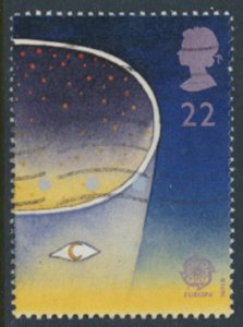 Great Britain  SG 1561  SC# 1375  Europa Space 1991  Used see detail and scan