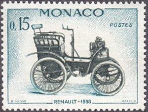Monaco # 491 hinged ~ 15¢ Automobile