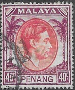 Malaysia - Penang   18  1949   40 c fine used