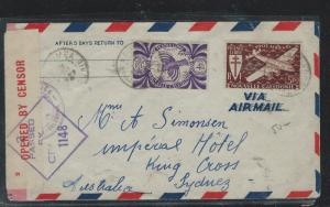 FRENCH OCEANIA  (PP2709B) 1935 COVER FROM TAHITI TO USA