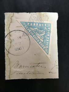COGH 1861 triangle cape of good hope, gb great britain, south africa stamp