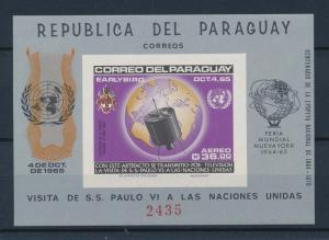 [35581] Paraguay 1965 Visit Pope Paul Inited Nations Imperforated SS MNH