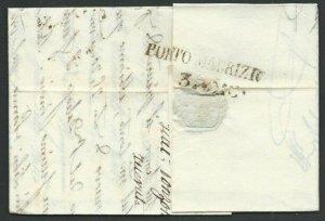 ITALY 1838 cover SAVONA to Porto Maurizio..................................60402