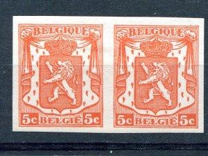 Belgium imperforated pair VF