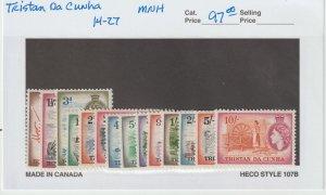Tristan Da Cunha 14-27 VF MNH
