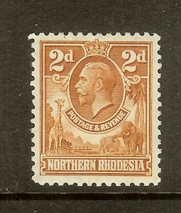 Northern Rhodesia, Scott #4, 2p King George V, MLH