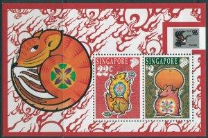 Singapore 1996 SG833 China Stamp Exhibition MS MNH
