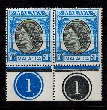 Malacca 41 MNH PR bright copies VF