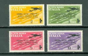 ITALY SURCHARGED #C52-55...SET...MINT LIGHT H..#39.00