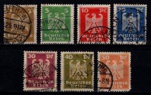 Germany 1924 Weimar Republic Definitives, Set [Used]