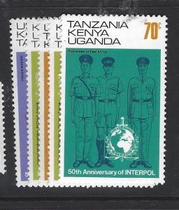 KENYA UGANDA TANGANYIKA   (P1909B) POLICE  SC 271-5   MNH
