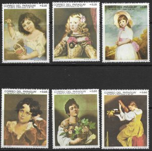 Paraguay. MLH. Set of 6 Topical - Paintings.