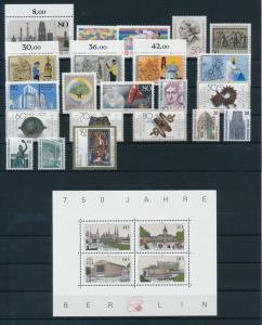 West Germany Berlin 1987 Complete Year Set MNH
