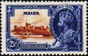Malta. 1935 2 1/2d S.G.211 Mounted Mint