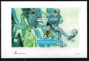 ARGENTINA 1994 FOOTBALL SOCCER  WORLD CUP USA 94 S/SHEET YV BL 59