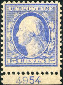 1911 US Stamp #382 A140 15c Mint Original Gum Catalogue Value $225