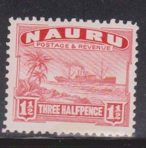 NAURU Scott # 19a MH - Ship Palm Trees & Beach