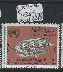 KUWAIT  (P0305B)  WHO  UN  SG 318-9   MNH