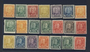 21x Canada Stamps #149 to154 160 to 170-172-179-80-183 Guide Value = $235.00