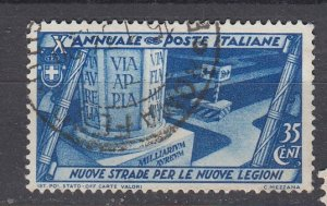 J29697, 1932 italy used #296 new roads