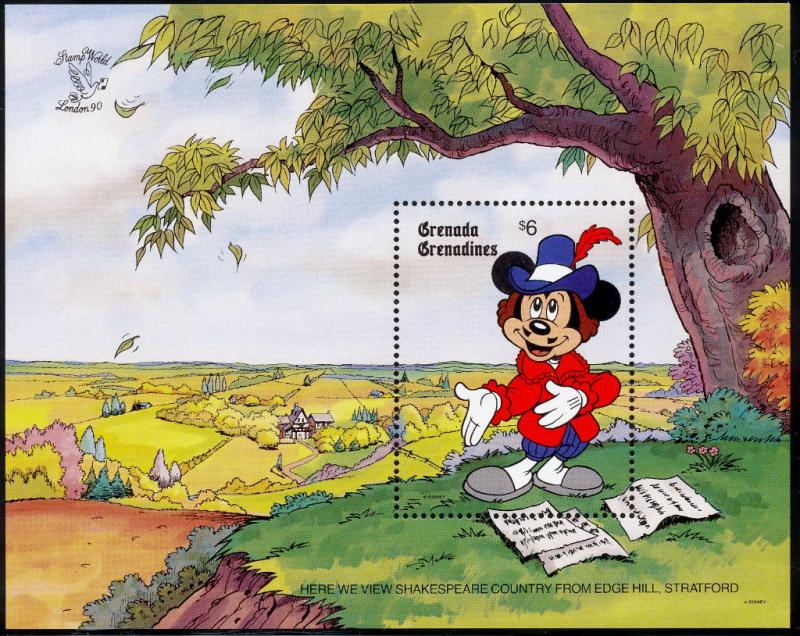 Grenada Grenadines 1183 MNH Disney, Shakespeare, View from Edge Hill