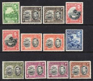 Grenada 1938 KGVI p/set (12v. inc some perfs) mint
