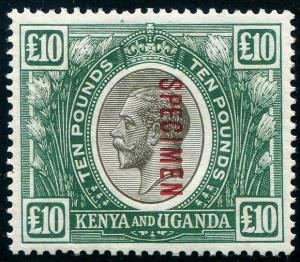 HERRICKSTAMP KENYA, UGANDA, TANGANYIKA Sc.# 41A KG V £ Black Specimen Hinged