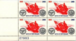 Scott # 1261 - US Block Of 4 - Battle Of New Orleans - MNH -1965