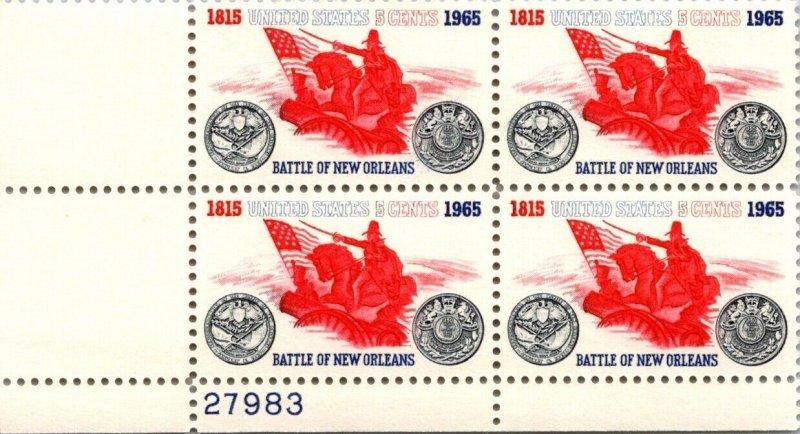 Scott # 1261 - US Block Of 4 - Battle Of New Orleans - MNH -1965