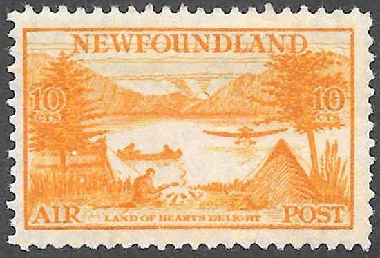 Newfoundland Airmail Stamp Scott Number C14 FVF HR
