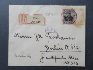 Lithuania 1916 Registered Cover to Berlin - Z7779