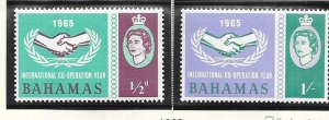 Bahamas #222-223 International Cooperation Year  (MNH) CV$0.65