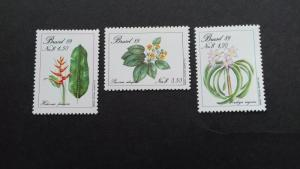 Brazil 1989 Endangered Plants Mint