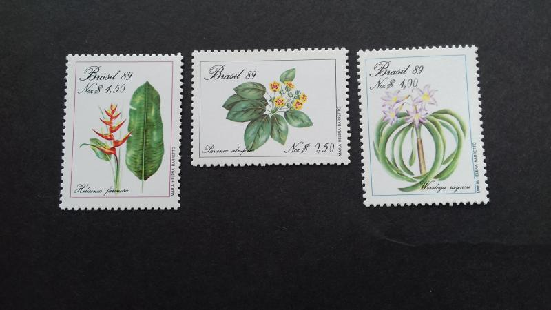 Brazil 1989 Endangered Plants Mint