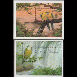 GUYANA 1999 - Scott# 3431-2 S/S Parrots NH