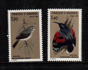 Andorra MNH 288-9 Birds 1981 LOOOOOOK!!!!!
