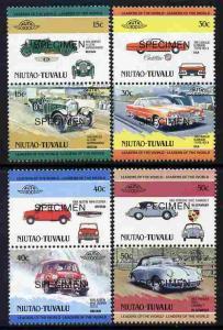 Tuvalu - Niutao 1984 Cars #1 (Leaders of the World) set o...