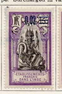 French Guinea 1922 Early Issue Fine Mint Hinged Surcharged 0,02 105884