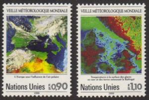 U.N. Geneva #176-7 MNH weather