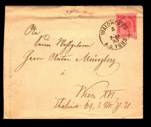 Austria 1895 5KR Stationery Cover Used / Top Creasing - L11335