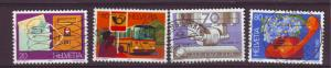 J10915 JL Stamps @20%scv 1980 swiss set4 used #687-90 designs