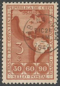CUBA 393 VFU MAP Z5691-4