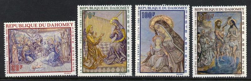 Dahomey C89-92 MNH Christmas, Art, Paintings