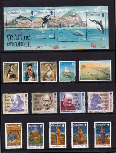 Gibraltar 1998,  MNH Year Set