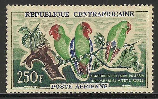 Central African Rep Air Mil 1963 Scott# C8 MNH