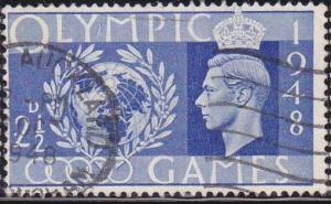 Great Britain 1948 SC #271 Olympic Games at Wembley, 2 1/2p Used.